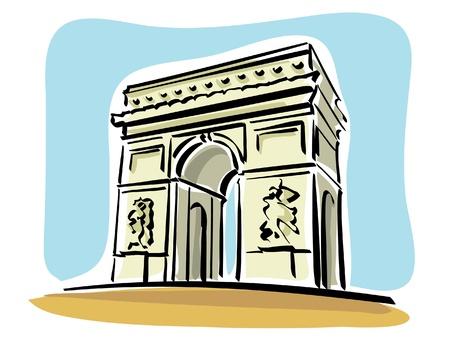 Paris (Arc de Triomphe) Ilustracja