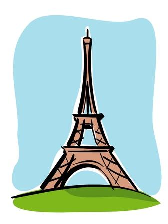 パリ (トゥール エッフェル)  イラスト・ベクター素材