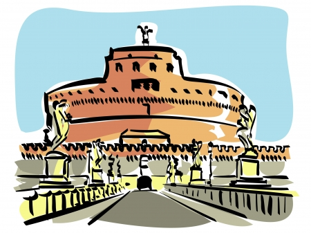 Rome (Castel S.Angelo) Stock Vector - 16953746