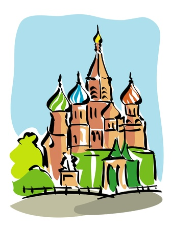 red square moscow: Moscow Illustration