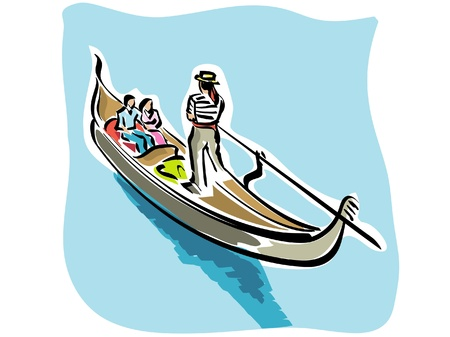 gondola: Venetian gondola Illustration