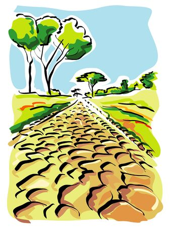 Rome (Old Appian Way) Stock Vector - 18389586