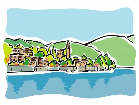 Lake Como (Italy) Vector