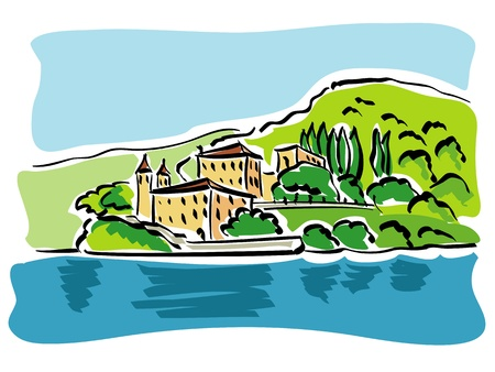 Lake Como (Italy) Stock Vector - 18514550