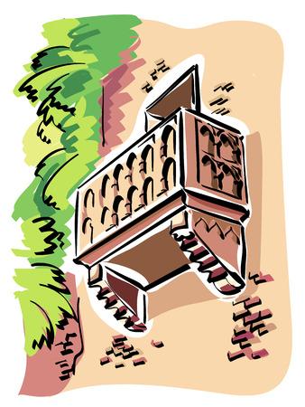 Verona, Juliet balkon Stock Illustratie