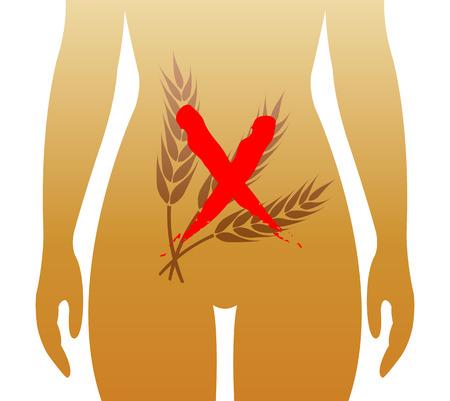 small intestine: enfermedad cel�aca Vectores