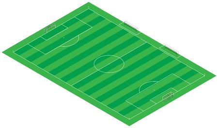footbal: Footbal  soccer  3d Illustration field  stadium  represented 1 1 scale  100m x 65m