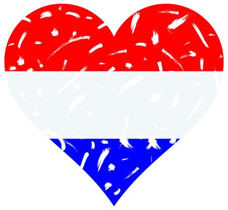 drapeau hollande: Hollande coeur de drapeau