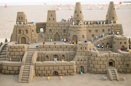 las vistas: Sandcastle on Las Vistas beach from Tenerife,Spain