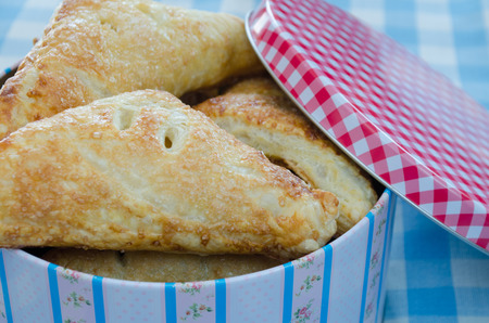made in netherlands: Dutch appelflappen  apple pie   in a tin box