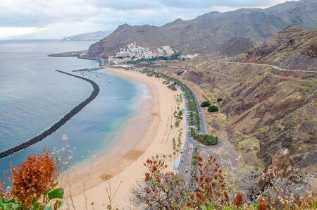 playa: The beach Playa de las Teresitas from Tenerife, Spain