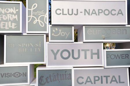 Cluj-Napoca - European Youth Capital in 2015. Stock Photo