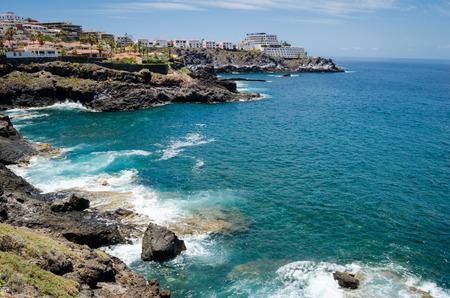 adeje: Rocky coast of Costa Adeje.Tenerife island, Canaries, Spain