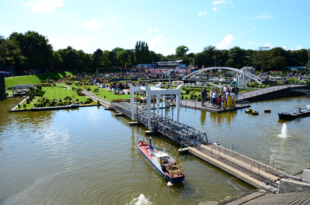 Hague, Netherlands - 14th of August, 2016: Madurodam, Holland miniature park and tourist attraction in Hague, Netherlands Editorial