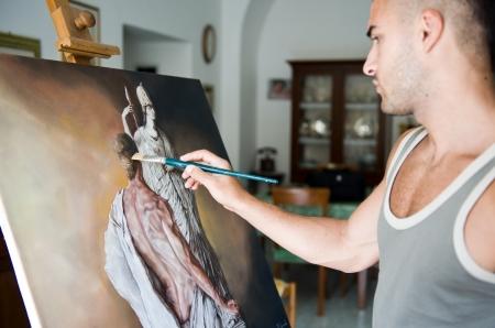 tavolozza pittore: pittura Archivio Fotografico