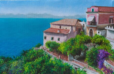 oil on canvas homes to agropoli photo