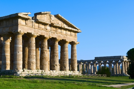 mediterraneo: temples of Paestum Stock Photo