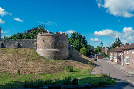 The northern part of the City Walls of York, England