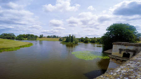 The lake in the grounds of Blenheim Palace near Woodstock, UK