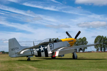A North American P-51 Mustang fighter Editorial
