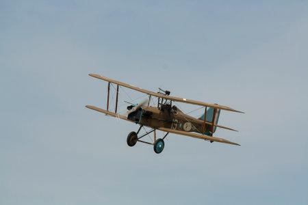 A replica Royal Aircraft Factory SE5 fighter plane Editorial