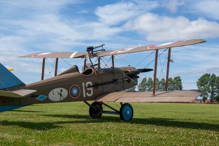 A replica Royal Aircraft Factory SE5 fighter plane