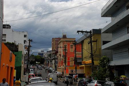 A busy street in Manaus, Brazil Publikacyjne