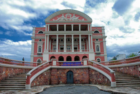 The Teatro Amazonas (Amazon Theatre) Opera House in the heart of Manaus, Brazil