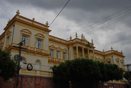 Dark clouds above the Palace of Justice in Manaus, Brazil Publikacyjne