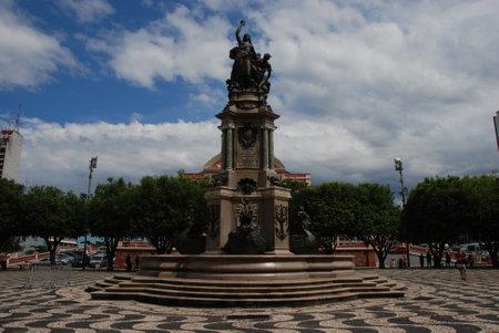 The Plaza San Sebastian opposite the Teatros Amazonas in Manaus, Brazil Publikacyjne