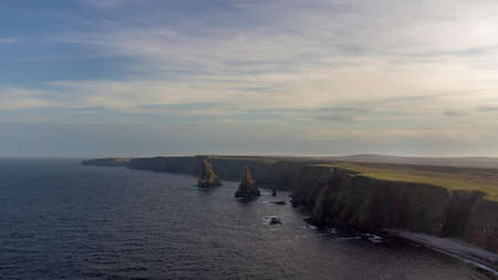 Duncansby Stacks in the very northeast corner of Scotland and the British mainland 版權商用圖片