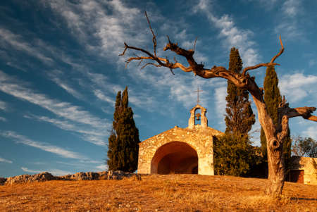 The chapel of Saint -Sixte, Nr Eygalieres, in the alpille pegion of provence, south of france.provence Banco de Imagens
