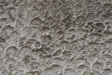 closeup texture of decorative plaster on the wall