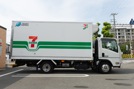 Osaka, JAPAN - CIRCA June, 2018:7-Eleven store in Osaka, Japan. 7-Eleven is an international chain of convenience stores. Editorial