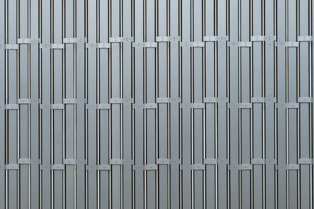 Zinc galvanized modern metallic sheet, gate texture, vertical texture Фото со стока