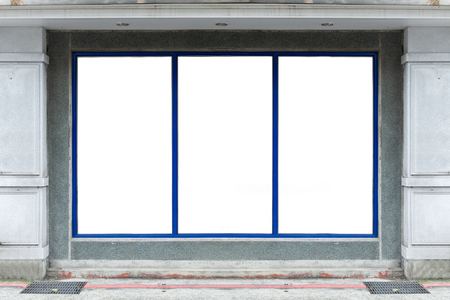 Boutique Store Front with Big Window Stock Photo