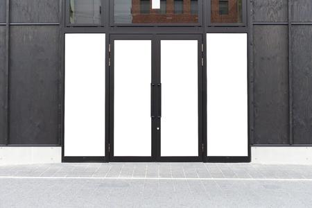 Store Front with Big Window and door