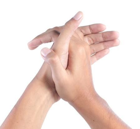 Klatschen mit beiden Händen Mensch Standard-Bild