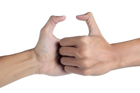 Thumb-Ringen, ein Symbol des Wettbewerbs
