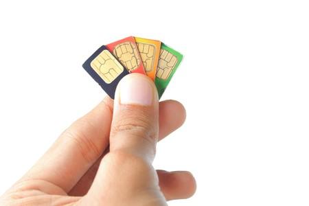 Hand war die beste Sim-Karte oder celular Anbieter auswählen.