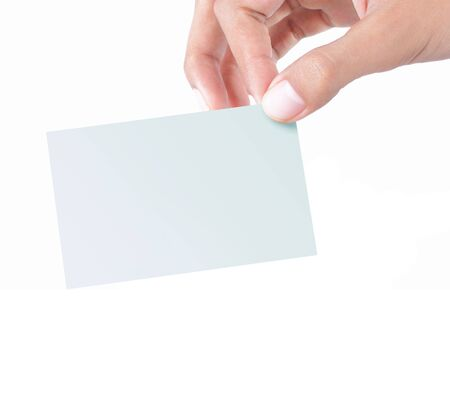 gesture of hand giving a card Stock Photo - 7804620