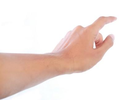 dedo: gesto de mano tocar algo