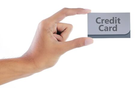 gesture of hand showing credit card Stock Photo - 7899445