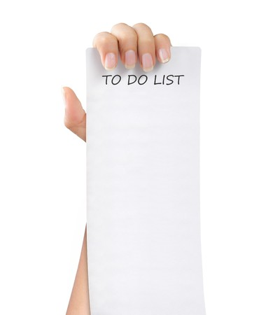 hand was holding of a to do list paper note Stock Photo - 7899485