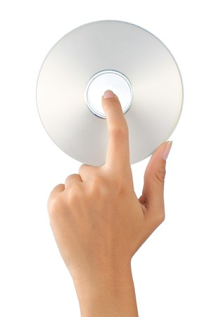 gesture of hand holding a compact disc Stock Photo - 7899481