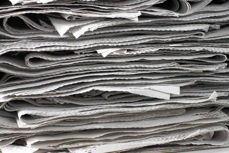 Textur-Schuss von einem Haufen von Zeitung