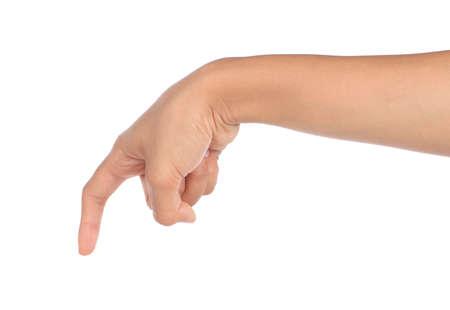 gesture of hand touching screen Stock Photo - 8696729