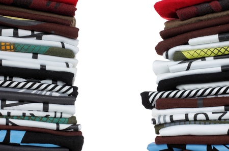 Row of colorful cotton t-shirts. Clothes Stock Photo - 8696748