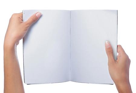 magazine layout: hand holding magazine