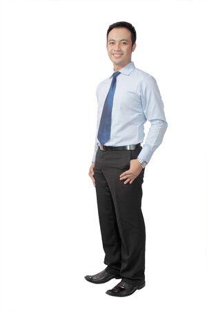 elegant business man: Elegante business man in una tuta - isolata su uno sfondo bianco